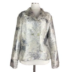 CABI Chalet 10 Silver Splatter Metallic Jacket